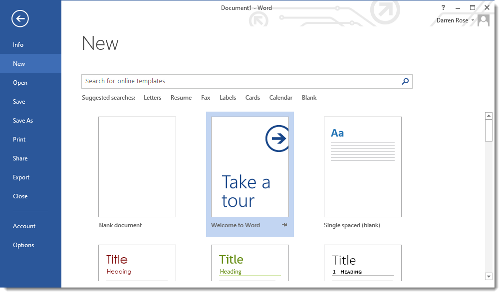 how to create a quick reference guide in word